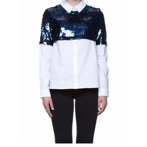 English Factory sequins combo shirt blouse